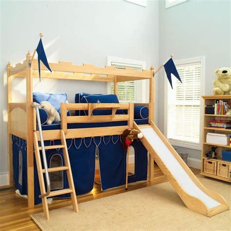 slide for bed bedroom adorable fun bunk beds for kids room luxury