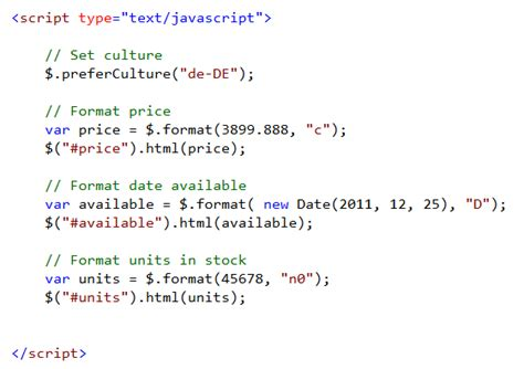 Get Date Format Using Javascript | scottgu s blog jquery globalization plugin from microsoft
