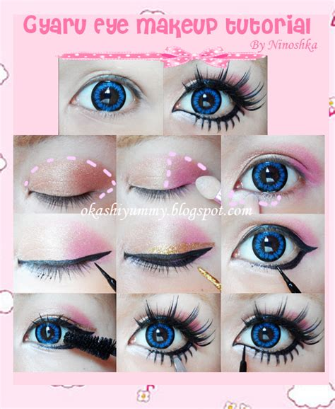 Tutorial Makeup Kawaii | okashi yummy gyaru eye makeup tutorial
