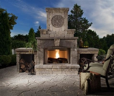 outdoor wood burning fireplace kits ideas building