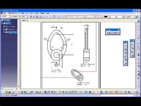 catia section view 3 16 nocke catia v5 drafting section view isometric