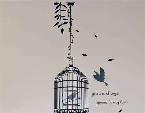 birdcage wall stickers bird cage vinyl wall sticker contemporary wall stickers
