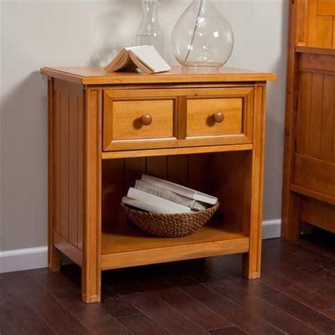 Modern Bedroom Nightstand Ls by 1 Drawer Wood Bedroom Nightstand With Shelf Modern Honey