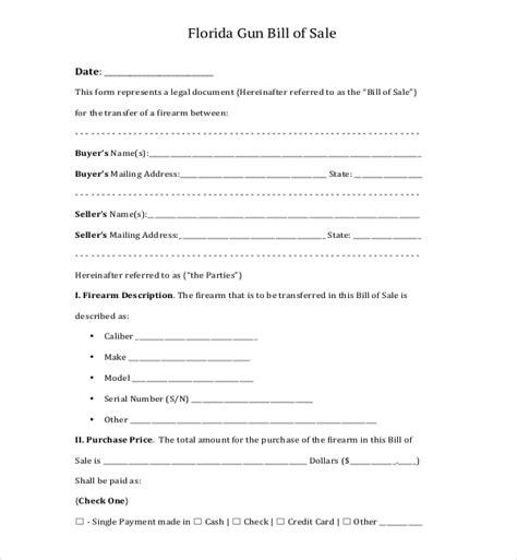 firearm bill of sale form 10 sle bill of sale for firearms sle forms