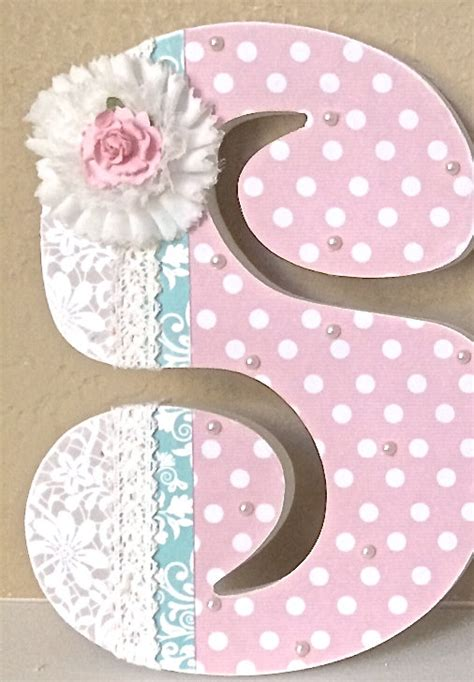 Letter Decorations For Nursery Custom Nursery Letters Baby Nursery Decor By Theruggedpearl