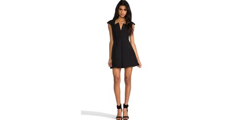 Dress Cammeo 1 cameo the one shoulder sheath dress in black lyst