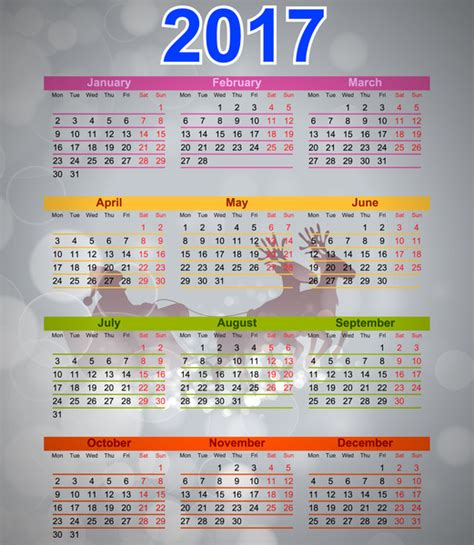 calendar 2017 templates free vector in adobe illustrator
