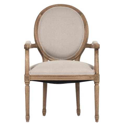 Oval Dining Chair Madeleine Country Louis Xvi Linen Oval Dining Arm Chair Kathy Kuo Home