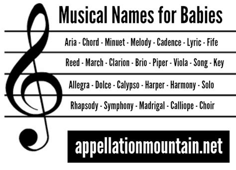 musical names and lyric musical baby names appellation mountain