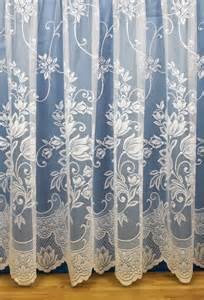 White Floral Curtains Jade White Floral Net Curtains Woodyatt Curtains
