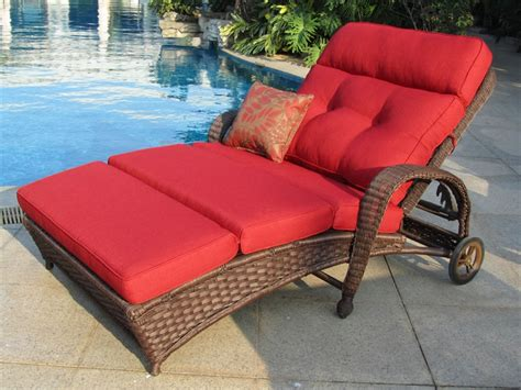 double chaise patio lounge outdoor double chaise lounger outdoorlivingdecor