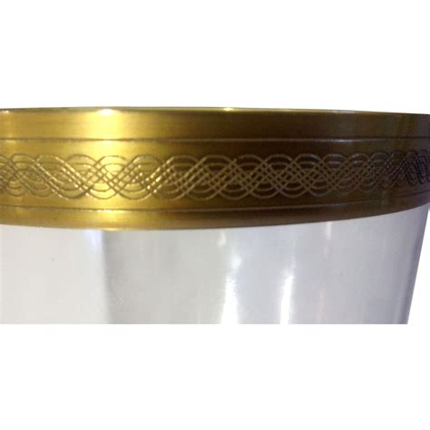 gold pattern trim gold pattern trim crystal wine chagne glasses celtic