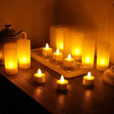 rechargeable flameless candles adorable home