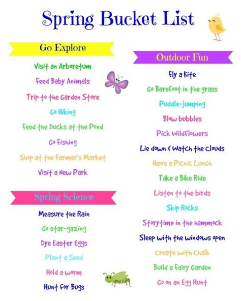 8 Activities To Do During by Preschool List Buckets And Free