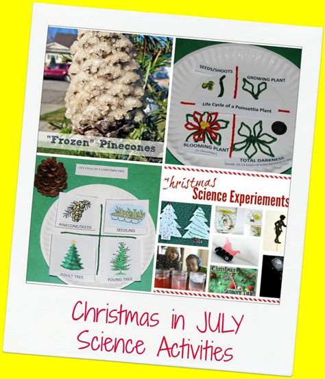 christmas in july science activities for preschool