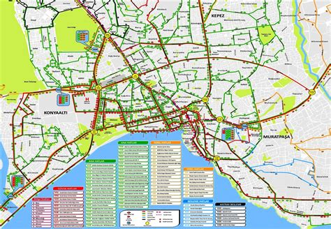 antalya map tourist attractions antaya city routes new zone