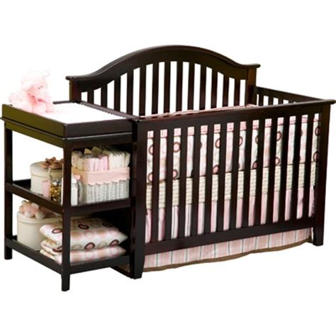crib with changing table attached baby rooms
