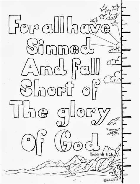 free printable scripture verse coloring pages romans coloring pages for kids by mr adron romans 3 23 for all