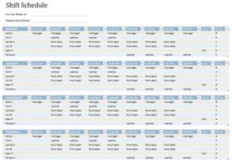 Shift Schedule Template Schedule Template Free Employee Shift Schedule Template