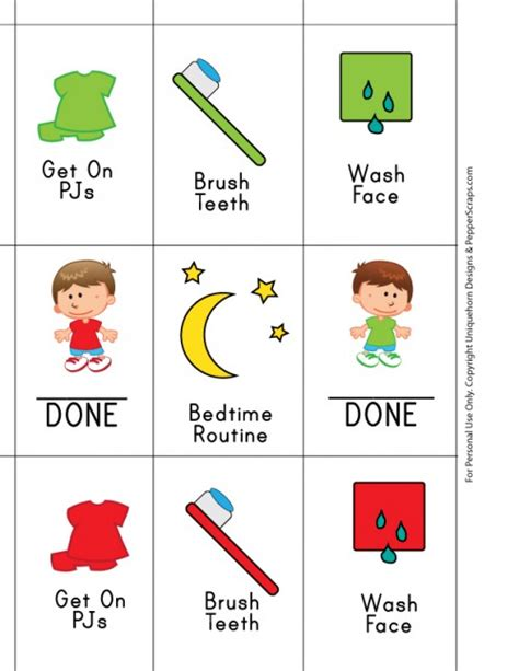 printable toddler bedtime routine chart 5 best images of morning and bedtime routine printables