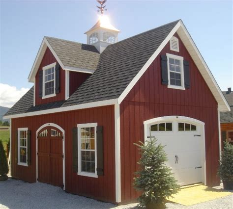 premier canton shed carriage house garage small