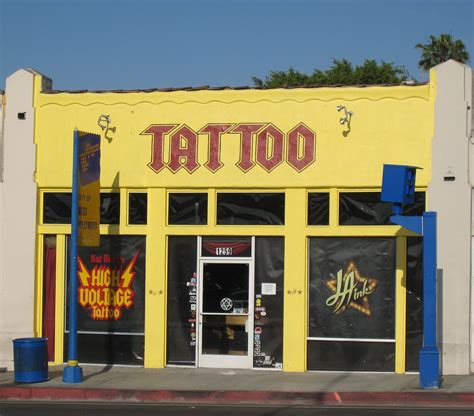 tattoo shops hollywood high voltage free pictures