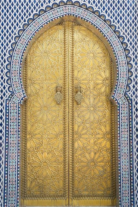golden door morocco door dar el makhzen by goud gold
