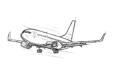 737 Coloring Page by Diego D Aquila Sketching Paintings Just For