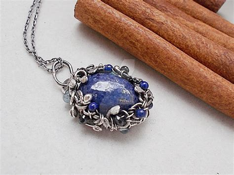 Azure wreath   lapis lazuli jewelry by AlonaSm on DeviantArt