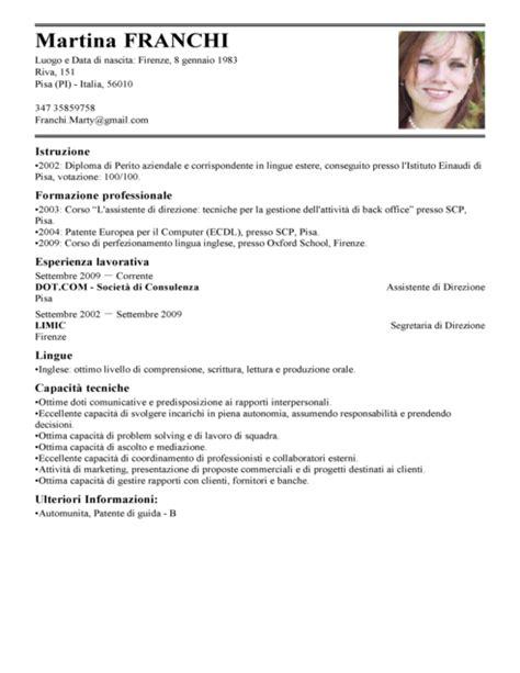 ufficio commerciale in inglese modello curriculum vitae assistente di direzione esempio