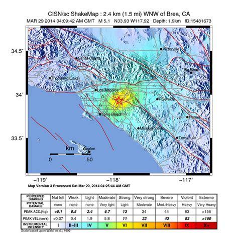 usa earthquake map us geological earthquake map los angeles
