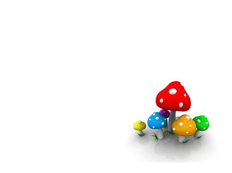 Free 3d Animation 3d 3d Mushroom Free Ppt Backgrounds 3d Animated Ppt Templates Free