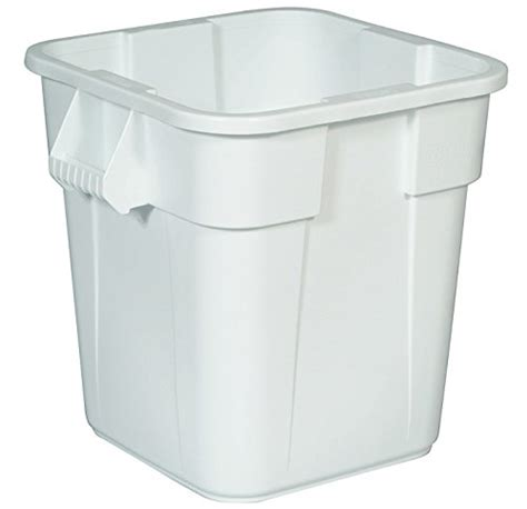 rubbermaid container garden rubbermaid commercial fg353600wht lldpe brute square 40
