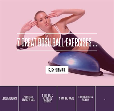 7 Great Bosu Exercises 7 great bosu exercises health