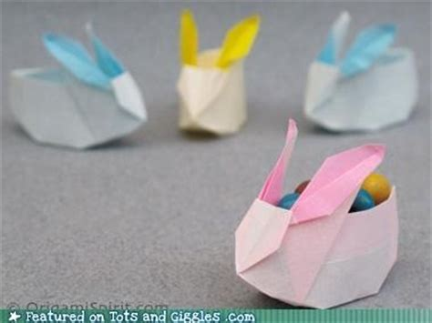 Origami Easter Bunny Basket - origami easter bunny baskets holidays winter