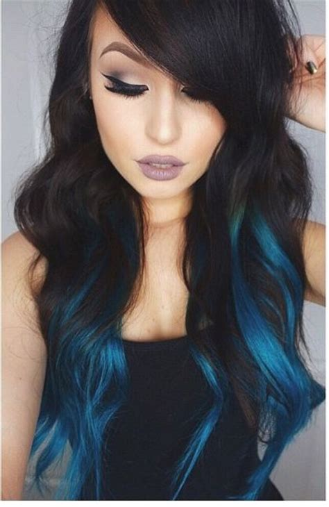 with blue streaks some blue streaks hair colors ideas of hair color blue