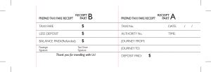 prepaid rent receipt template prepaid taxi fare receipt template pdf
