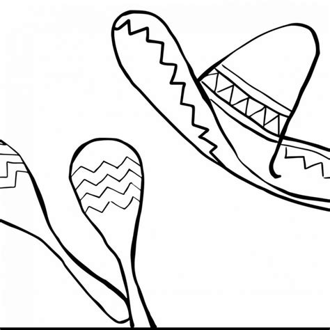 mariachi guitar coloring page mexican hat drawing at getdrawings com free for personal