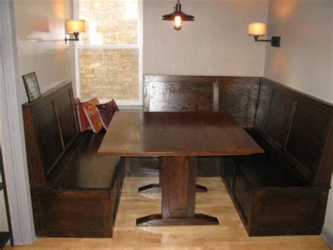 pub style booth and table feather booths