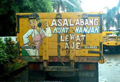 asal usul tulisan  gambar lucu  truk  angkot