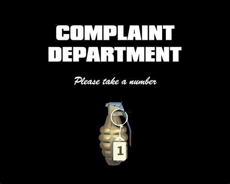 Complaint Department pin complaint dept on