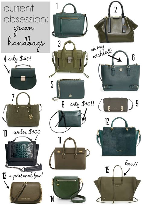 Current Obsessions by Current Obsession Green Handbags Glitter Gingham