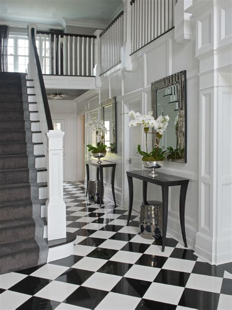 Design For Marble Console Table Ideas Black And White Checkered Floor Design Ideas