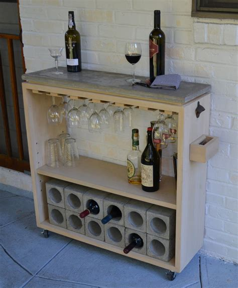 Bar Top Shelf by Rolling Concrete Slab Top Bar And Kitchen Shelf Wine Rack