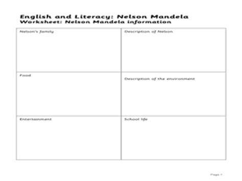 biography lesson plan for 4th grade english and literacy nelson mandela lesson plan 1