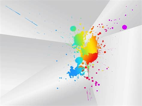 colorful paint splashes grunge design vector free