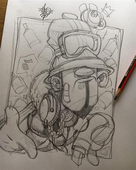 Graffiti Drawing Characters