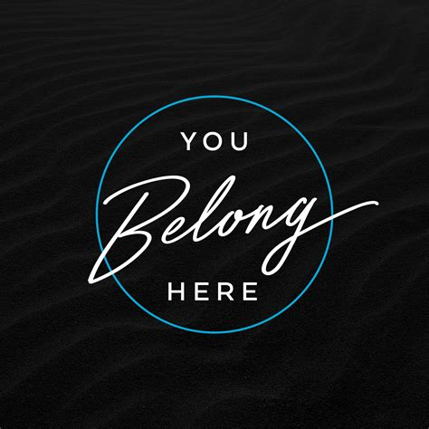 you belong here you belong here sunday social
