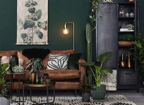modern scandinavian living room  green walls
