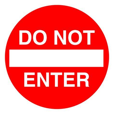 to enter clipart do not enter sign